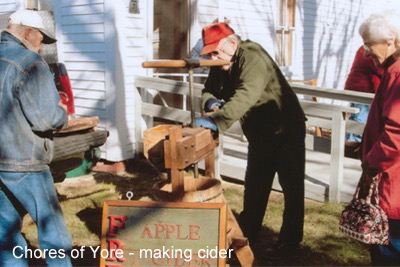 Chores of Yore - making cider