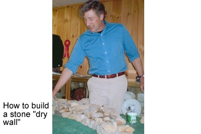 "How to build a stone ""dry wall"""